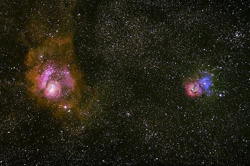 trifid and lagoon nebula - photo #26