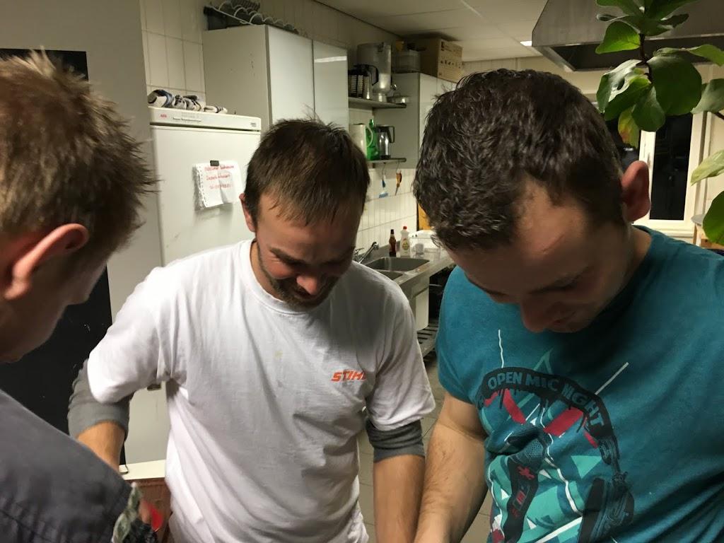 Goede sfeer in de keuken