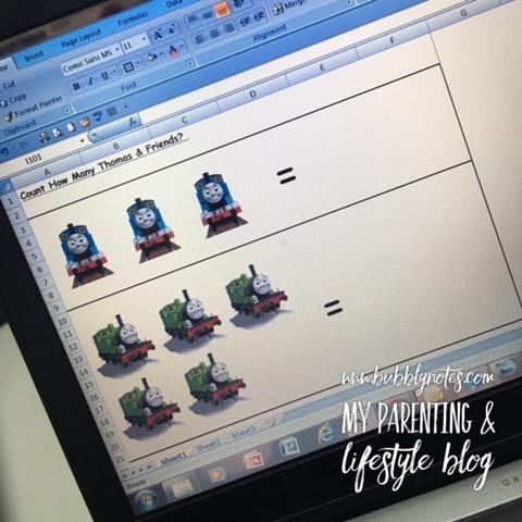 Homeschooling Activities_Idea Matematik Mudah Menggunakan Pelekat 2