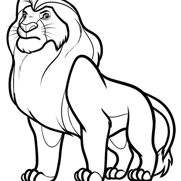 Coloring Page The Lion King Animation Movies   Printable Coloring  Pages