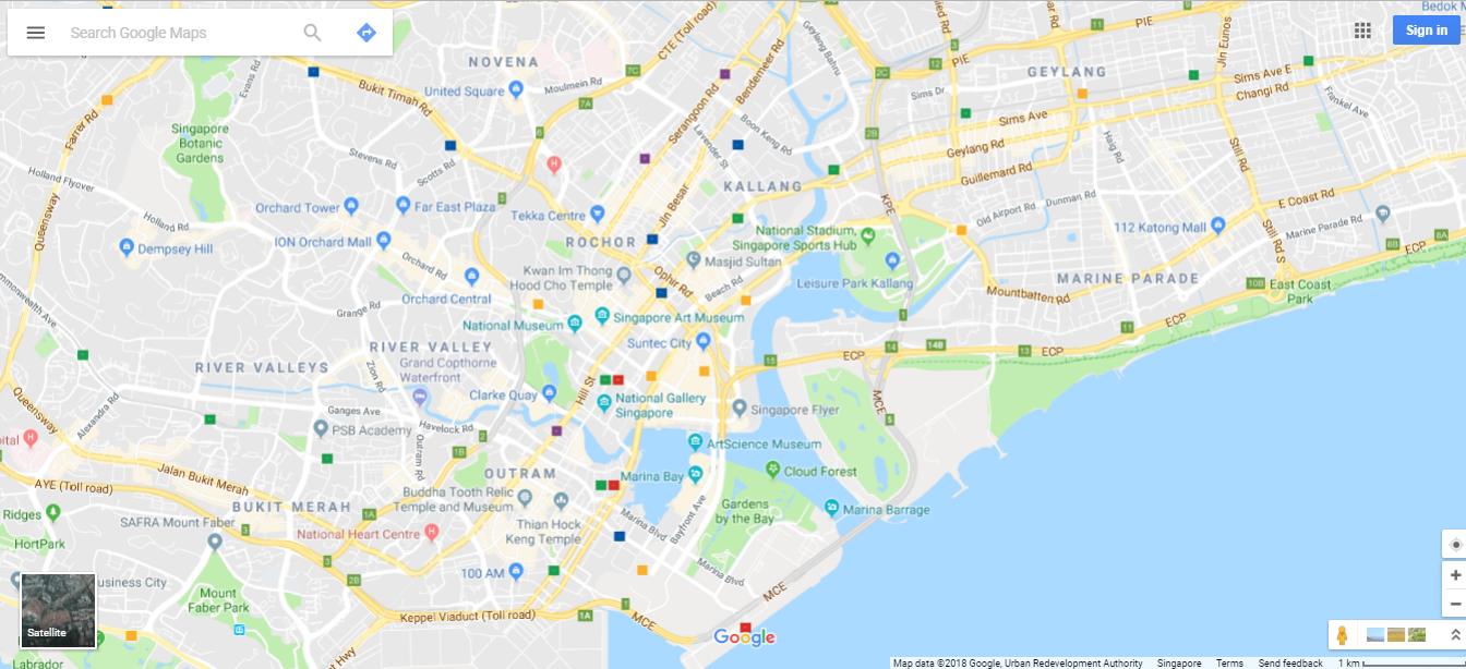 Chrome Google Maps on