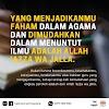Yang menjadikanmu faham dalam agama dan di mudahkan dalam menuntut ilmu adalah Allah 'Azza wa jalla