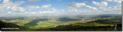 Jezreel Valley from Mount Carmel panorama, tb032407526