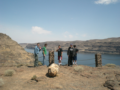 Lunch stop at Ginkgo Petrified Forest