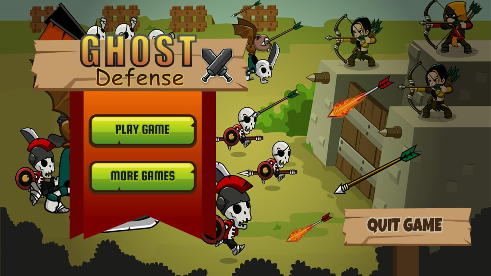 Ghost Defense: Zombie Ghosts🏹- screenshot