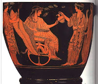Τριπτόλεμος,Ελευσίνιος ακόλουθος της Θεάς Δήμητρας,έσπειρε σιτάρι την Γαία.