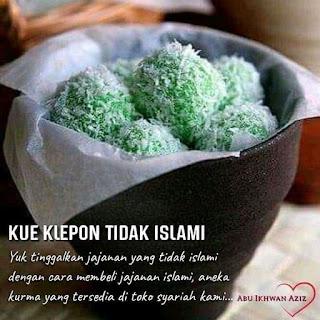 klepon tidak islami, sebuah narasi fitnah untuk mendeskreditkan syariat