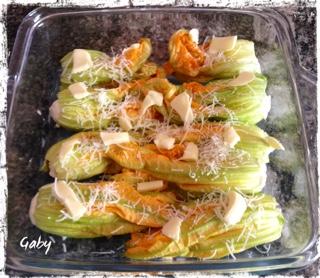 Fiori di zucchina con ricotta speziata