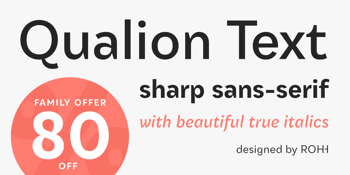 Download Qualion Text™ Font Family From ROHH