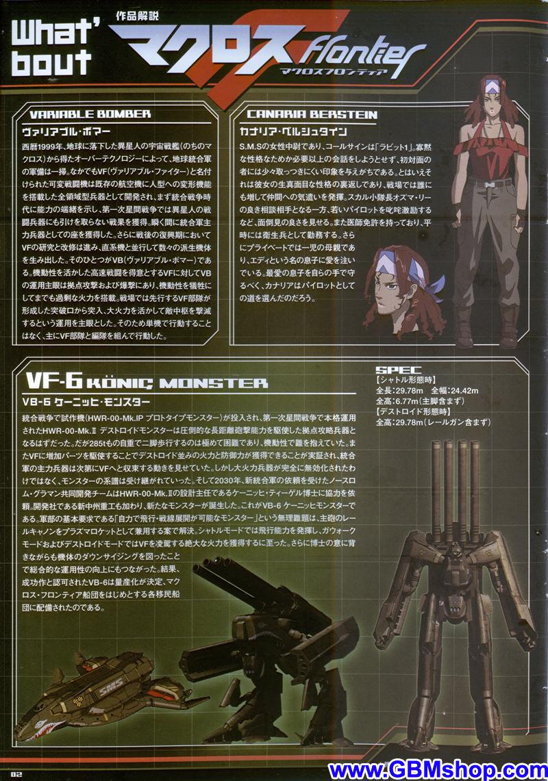 Bandai DX Chogokin Macross Frontier VB-6 König Monster Transformation Manual Guide