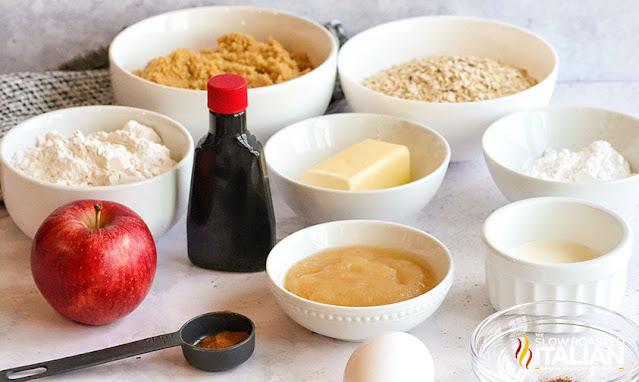 easy oatmeal cookies ingredients