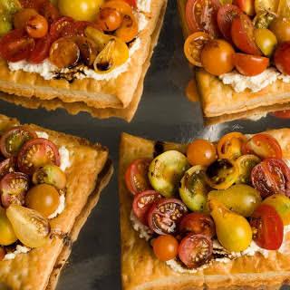 Fresh Tomato and Cheese Puff-Pastry Tart.