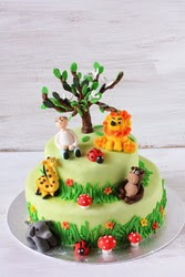 Cake Orders – Jungle Theme – Brown butter cake with cardamon mascarpone cream