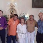 Mae Almerinda com Babalorixa Paulo Newton - Templo a Caminho da Luz - RJ