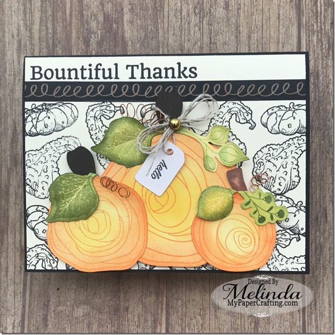 Fun Stampers Journey Fall Bountiful Thanks Card