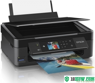 How to reset flashing lights for Epson XP-422 printer