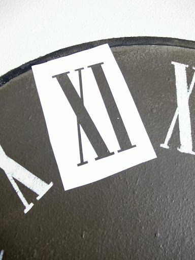 picture about Roman Numeral Stencils Printable identify Painted Wall Clock (It is effective also!)