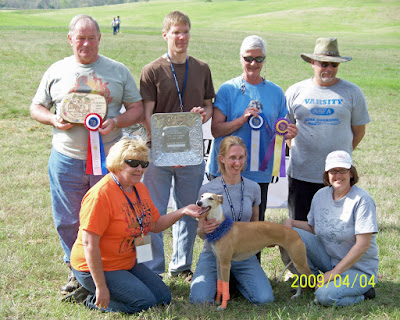 BOB/BIF winner at AWC National Specialty AKC Lure Coursing Trial