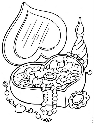 jewelry coloring pages jewelry boxes free coloring pages coloring pages