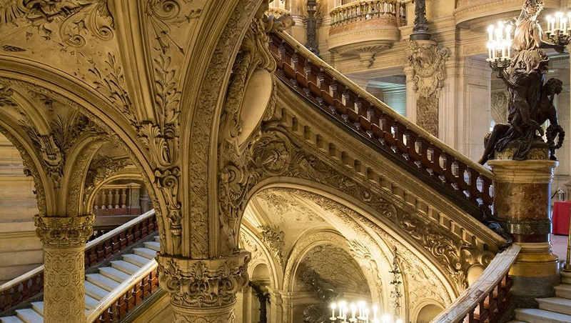escaleras Palacio Garnier y su Ópera