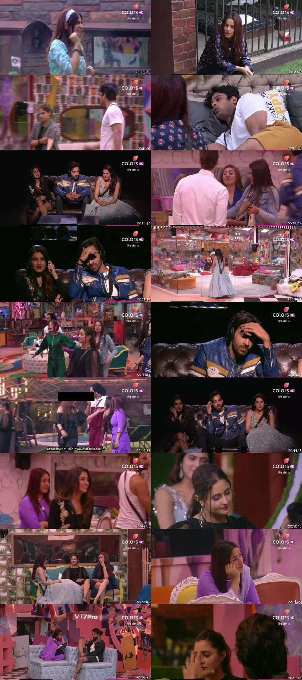 Screenshots Of Hindi Show Bigg Boss 13 2nd December 2019 Episode 63 300MB 480P HD