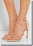 Stuart Weitzman nude patent leather sandals - gold and glitter also
