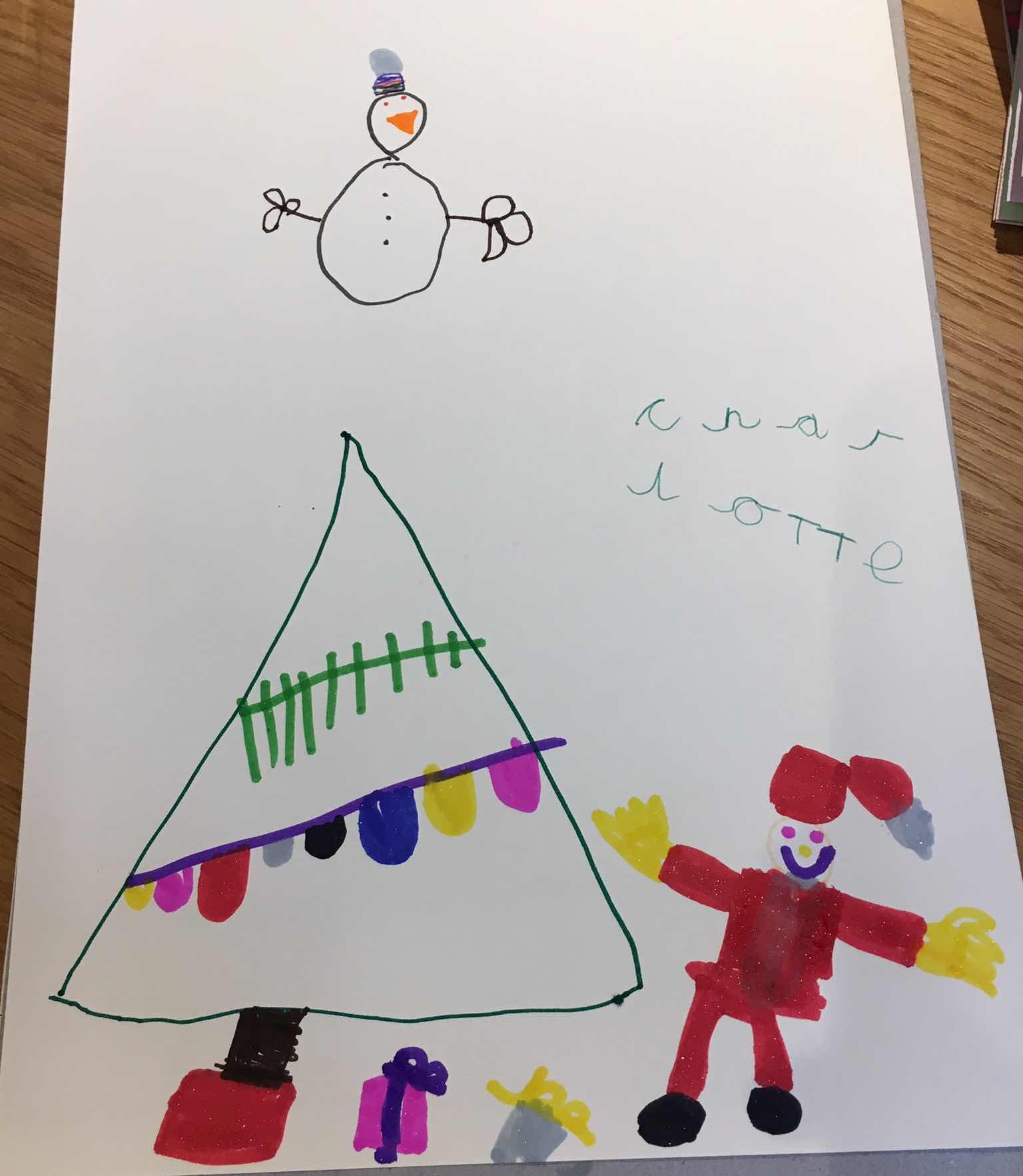 Christmas kids drawing