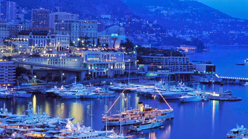 Harbor of Monaco at Dusk.jpg
