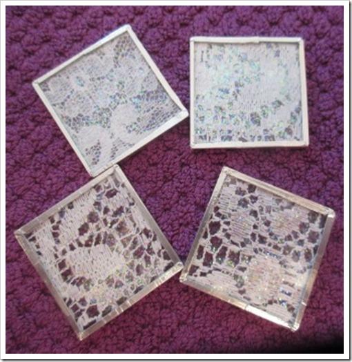 lace microscope slide tree decorations