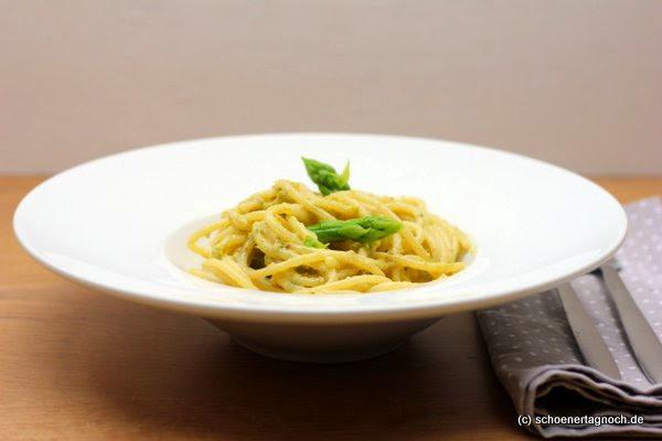 spaghetti mit spargel walnuss pesto sch ner tag noch food blog mit leckeren rezepten f r. Black Bedroom Furniture Sets. Home Design Ideas