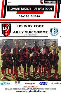 PROGRAMME MATCH IVRY FOOT - AILLY SUR SOMME 11/11/2015