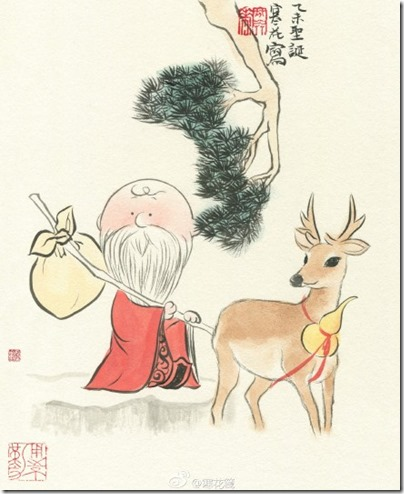 Peanuts X China Chic by froidrosarouge 花生漫畫 中國風 by寒花 Charlie Brown X Merry Christmas