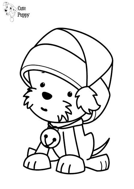 Puppy Coloring Pages Printable With Regard To Your Home