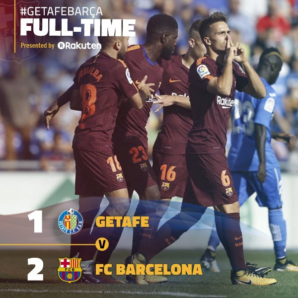 Video: Getafe 1 – 2 Barcelona [La Liga] Highlights 2017/18