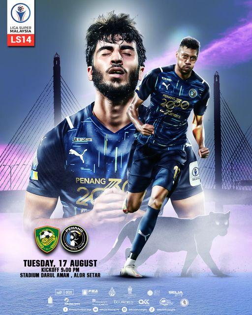 Live Streaming Kedah vs Penang 17.8.2021