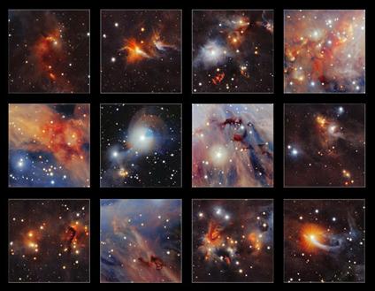 coleção de imagens da nuvem molecular Órion