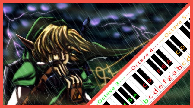 Song of Storms (Zelda) ~ Piano Letter Notes