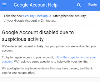 why can t google verify my account