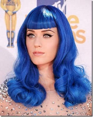 Katy Perry in Blue Wig