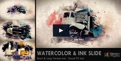 Plantilla After Effects para añadir efecto de tinta y acuarela a fotos y vídeos