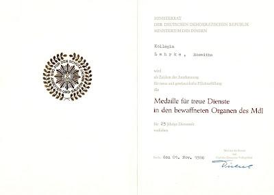 139d Medaille für treue Dienste in den bewaffneten Organen des Ministeriums des Innern für 25 Dienstjahre www.ddrmedailles.nl