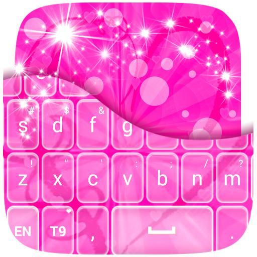 个人化のキーボードピンクハート LOGO-記事Game