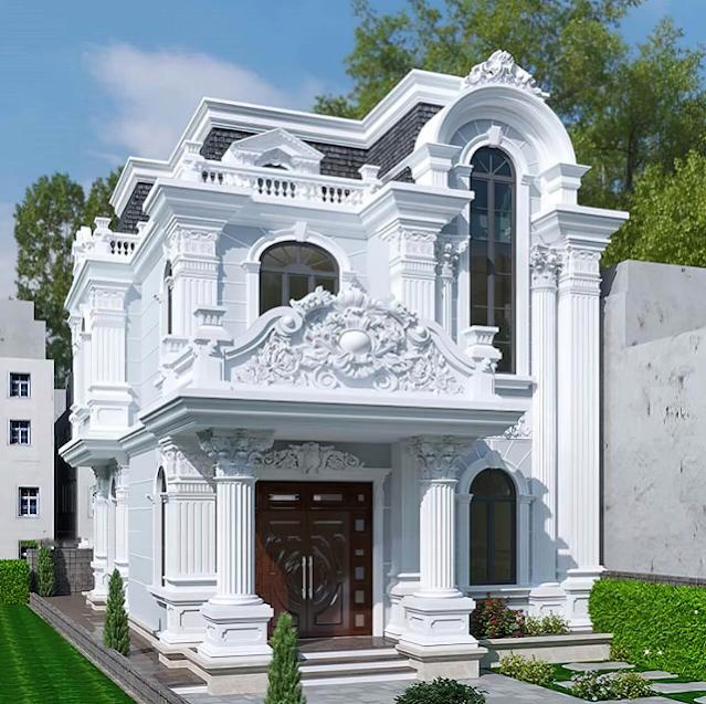 Tổng hợp 10 mẫu phối cảnh bên ngoài biệt thự cổ điển