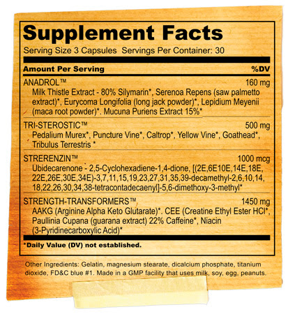 brutal anadrol supplement facts