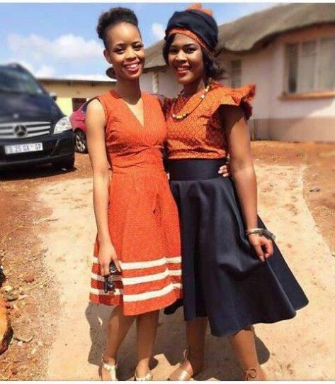 76 Shweshwe Modern Traditional Dress Clothes Fashion 2d