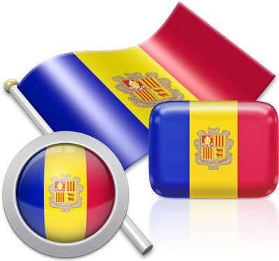 Andorran flag icons pictures collection