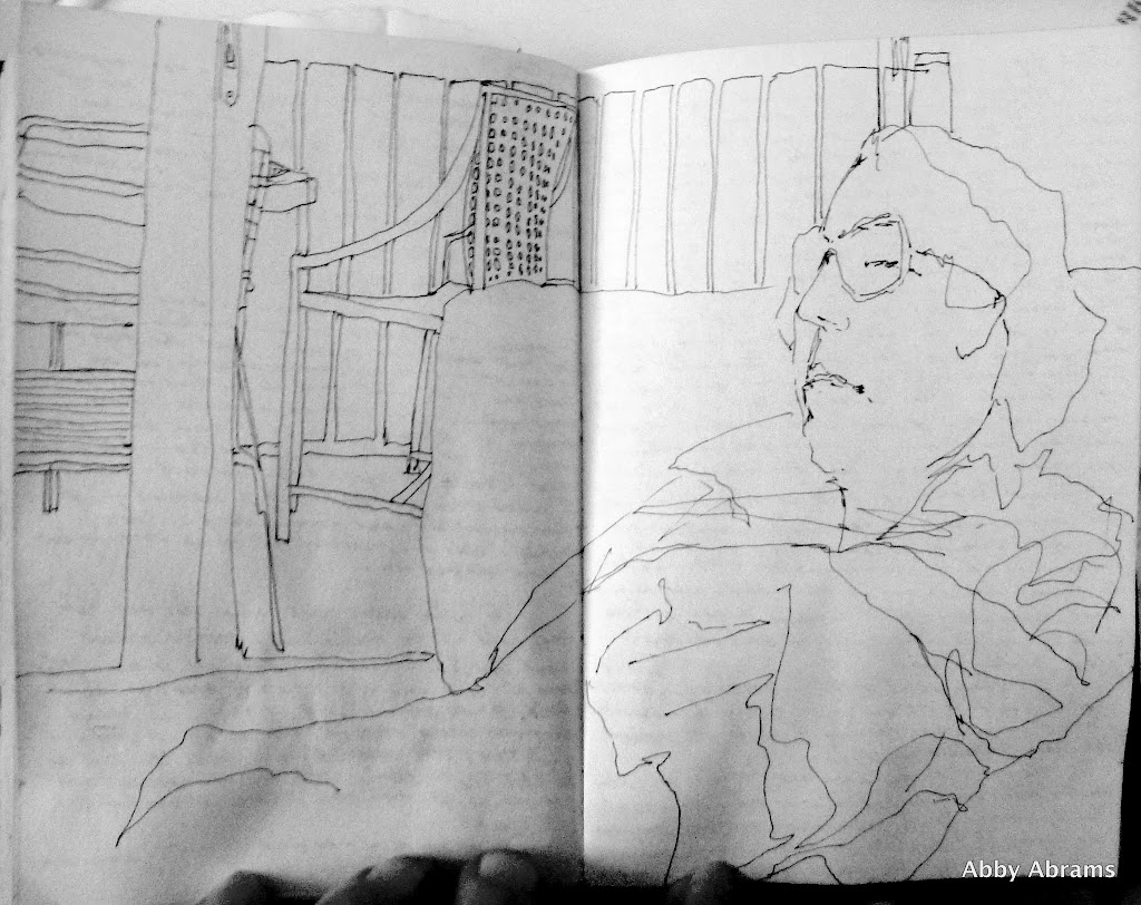 mom in evening   diary sketch 2926x2321 2926x2321