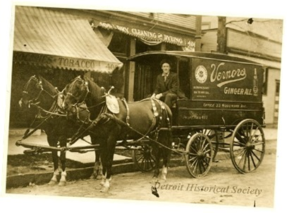Vernors cart with horses