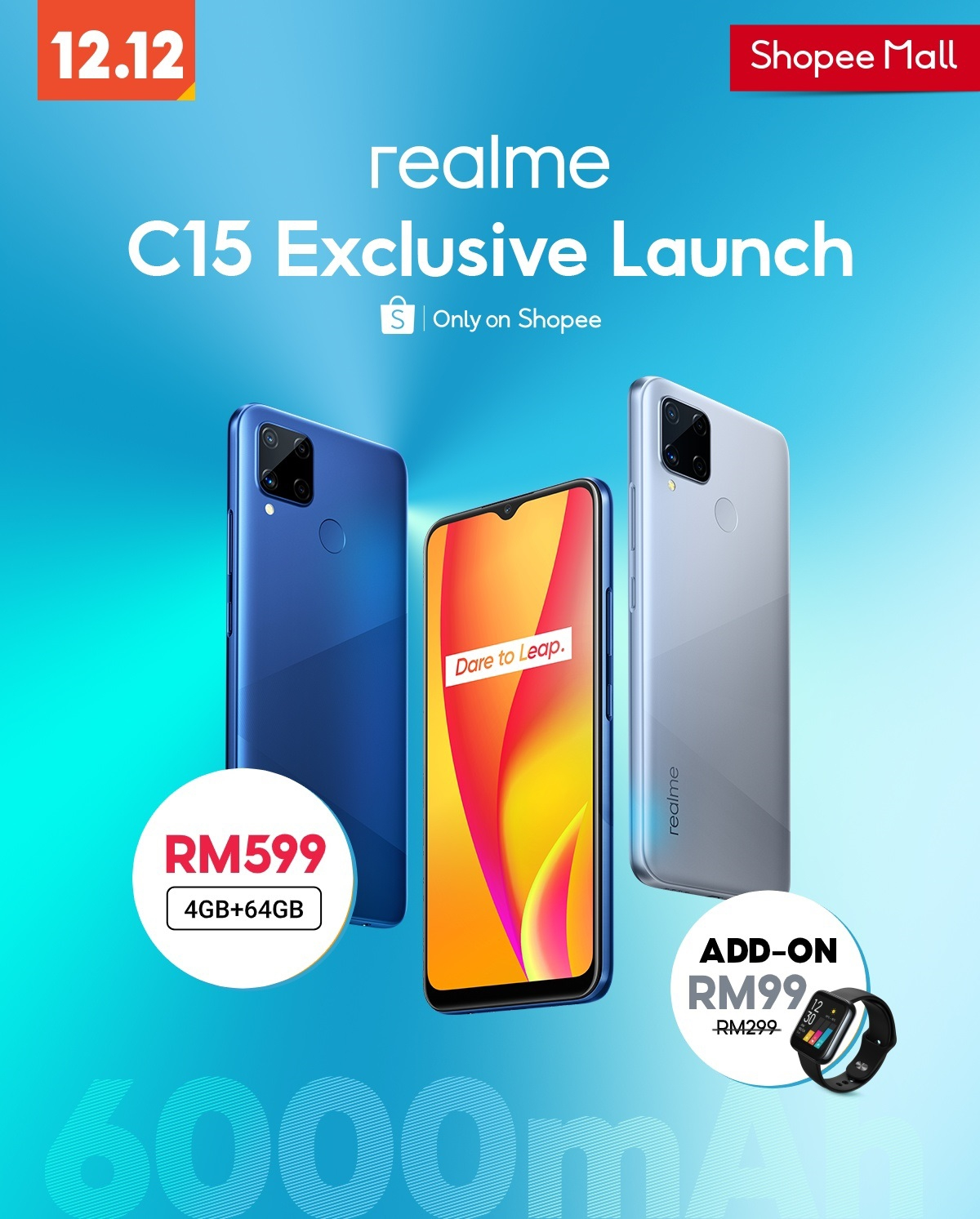 Shopee launches it's Realme C15 Discount on 12.12 Shopping Day