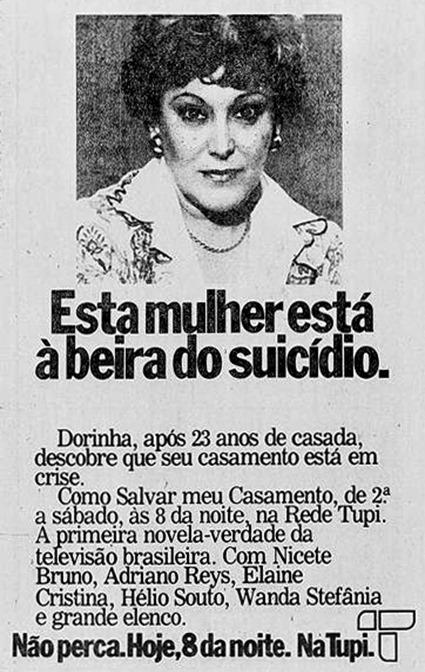 anuncio novela Como Salvar Meu Casamento - TV Tupi 1979